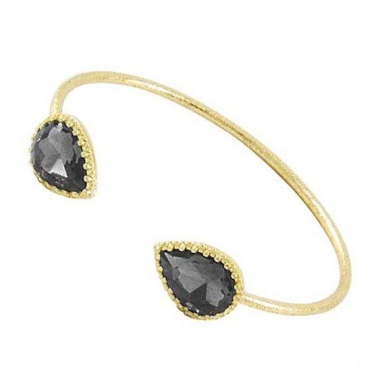 Gray Diamond Glass Bracelet