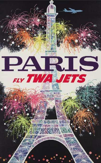 Reproduction Paris Travel Poster