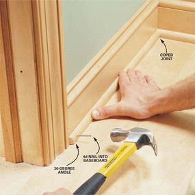 Interior trim work basics: All the trim basics,  start to finish, plus a clever way to get miters tight