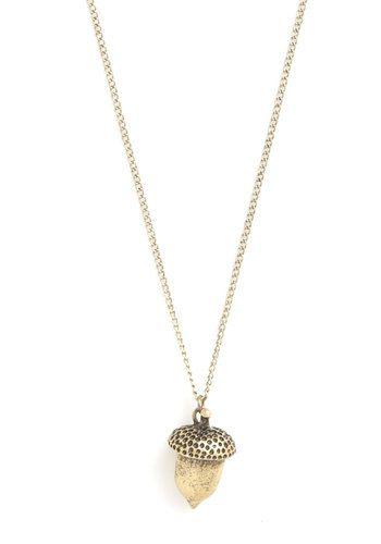 Acorn necklace- I'd wear that.