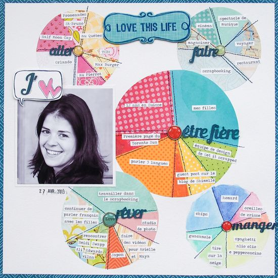 Ideas for Using Pie Charts to Tell Stories and Add Design Interest to Scrapbook Pages