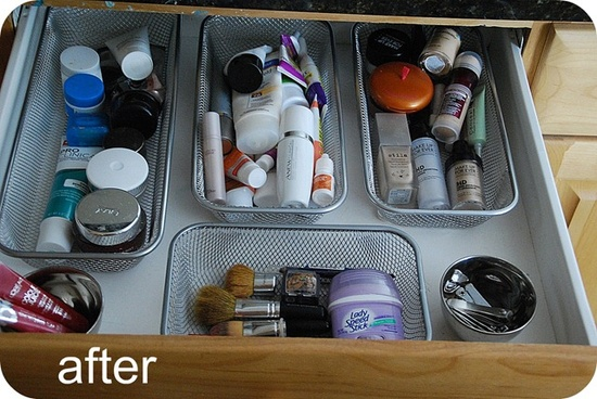 Yes! Earlier this evening I was getting so annoyed at my bathroom drawer and the sliding organizers.