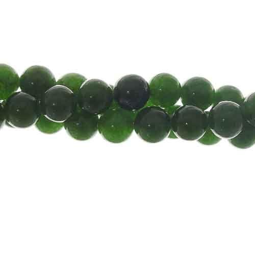 "8mm Green Jade Gemstone Bead Strand, Grade ""A"""