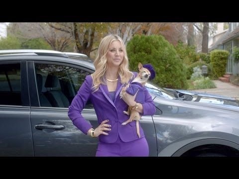 For our fans, who plan to watch this year's Super Bowl only for the funny commercials, here's one for you to enjoy ahead of time. As we saw in the teaser video that Toyota released last week, will be making the transition from Big Bang to The Big Game as a wish-granting genie in a commercial for the 2013 Toyota RAV4 starring Kaley Cuoco.