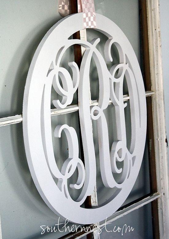 Cute!  Monogram instead of a wreath.