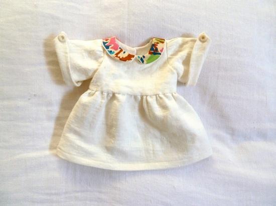 patterned collar dress