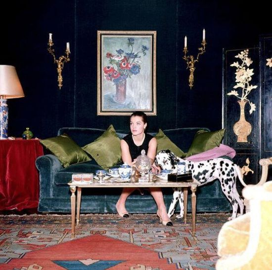 Romy Schneider at home.