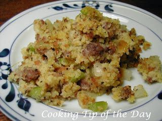 Cooking Tip of the Day: Southern Cornbread and Sausage Stuffing