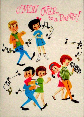 Vintage party invitation.