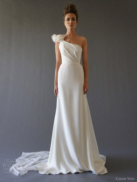 cocoe voci fall 2012 narcissus one shoulder wedding dress
