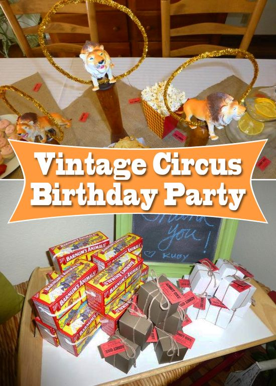 Step right up and throw your #birthday kid an awesome vintage circus-themed party! www.parents.com/...