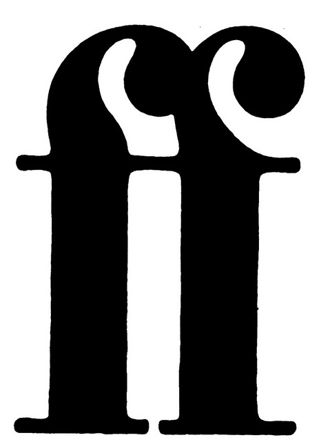 Faber & Faber logo; Design: John McConnell, Pentagram, 1981, via Flickr
