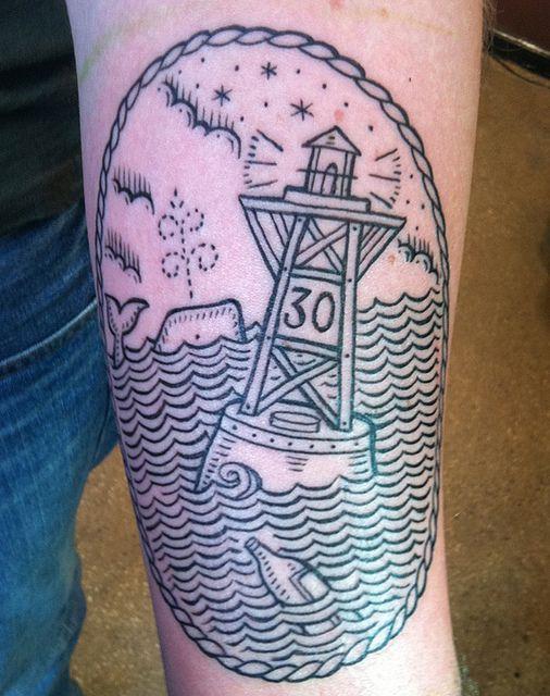 by Duke Riley, East River Tattoo in Brooklyn, NYC. #tattoos