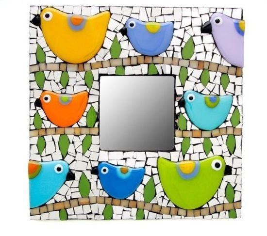 Mosaic Bird Mirror
