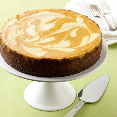 Pumpkin-Ginger Cheesecake #recipe #cheesecake