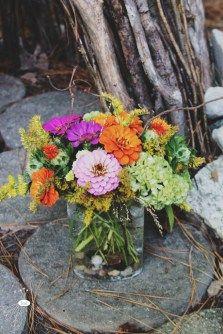 woodsy summer flower arrangement