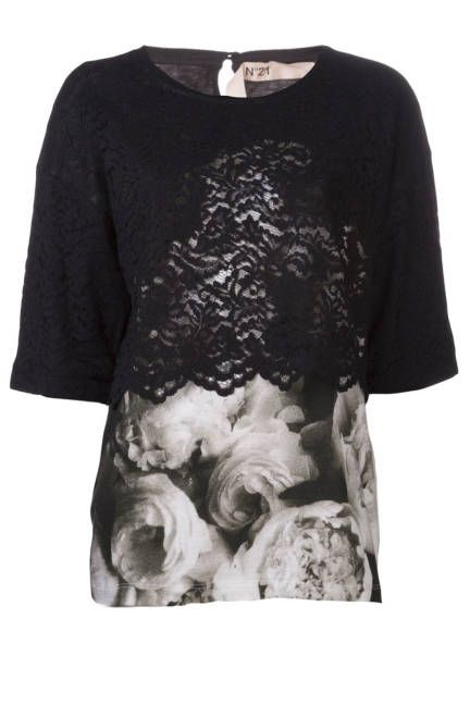 Floral & lace top Floral Fall Fashion Trend 2013