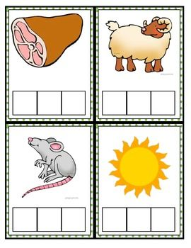 CVC words with pictures