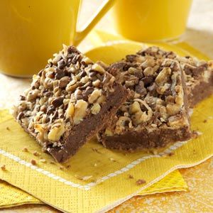 Coconut Chip Nut Bars -  There's something for everyone in these delectable bars, from coconut and chocolate chips to walnuts and toffee. They're popular with kids and adults alike, so make a big batch. You'll be amazed at how fast they vanish