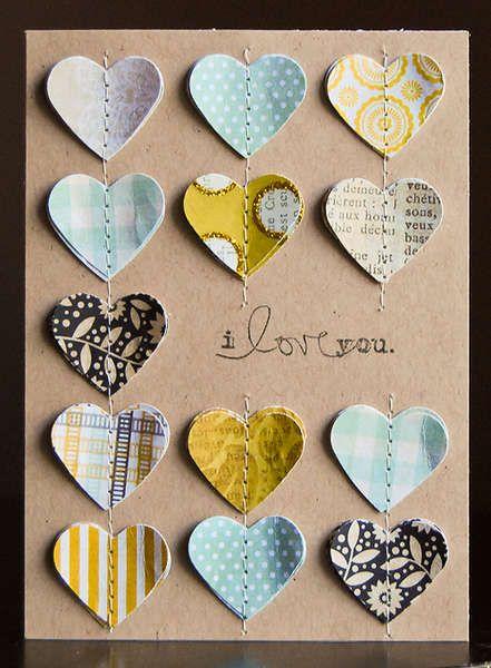 Sewing on handmade card