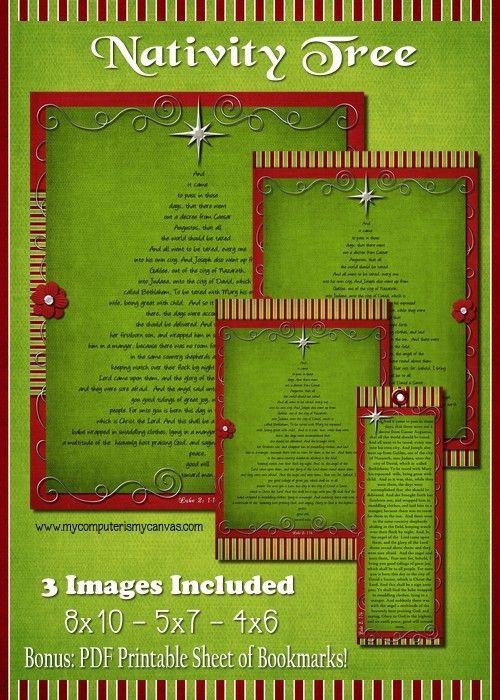Luke 2 Nativity Story Tree - PRINTABLE