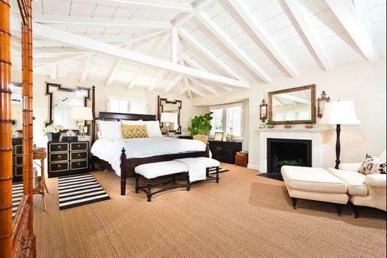 black white neutral bedroom