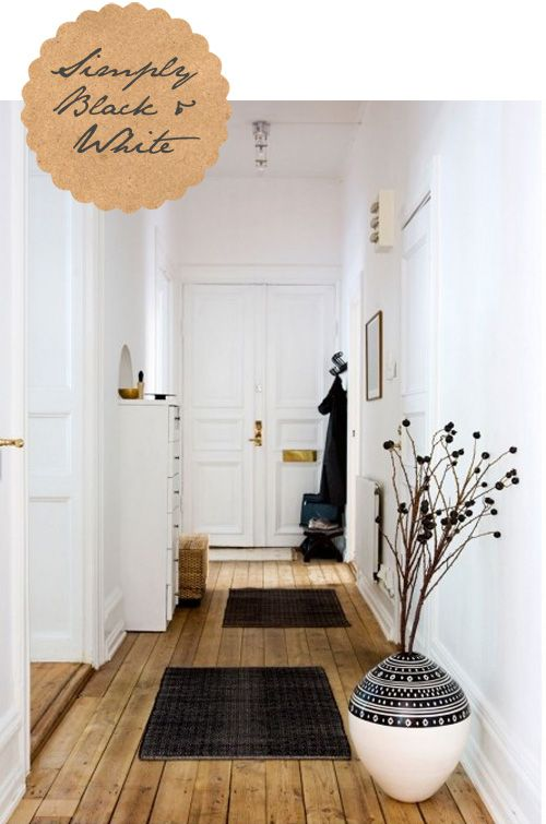 wooden floor white walls