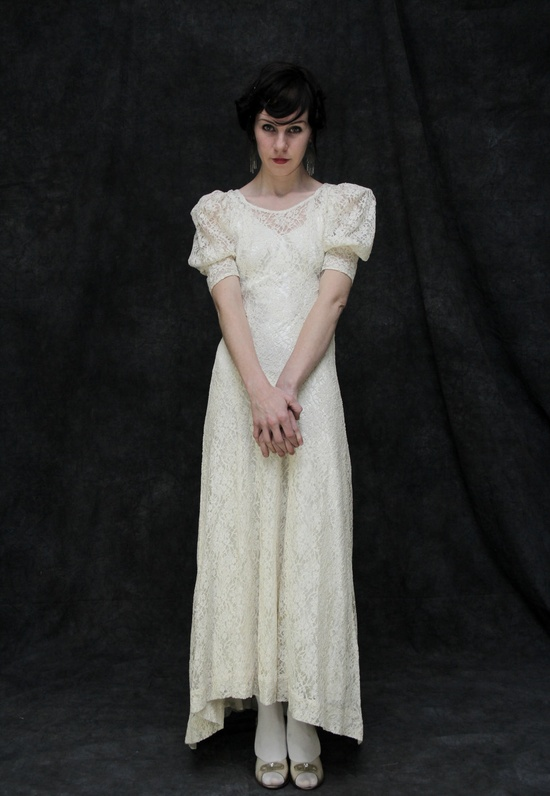 A deeply romantic antique gown from the 1900s. From VeraVague. $750.00.