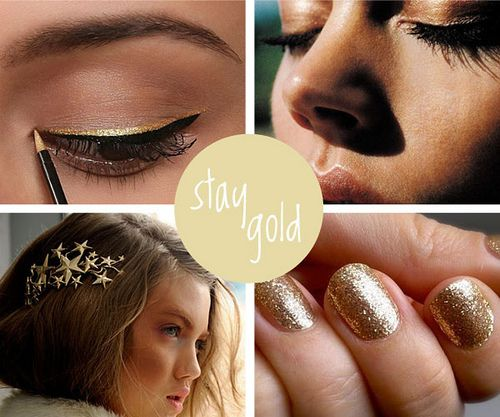 Stay gold #fashion #beauty