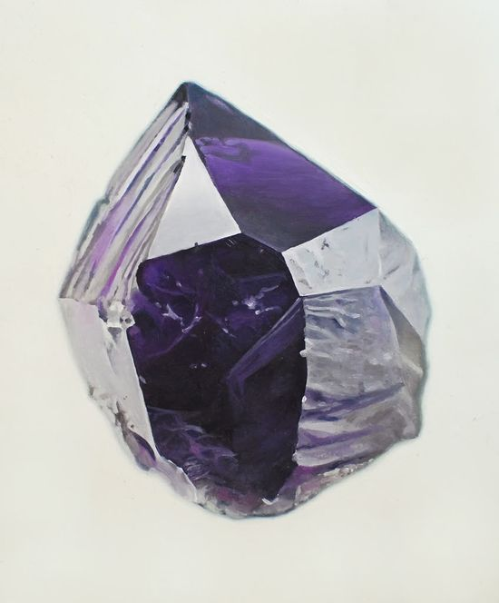 Carly Waito,gemstones,facets,painting