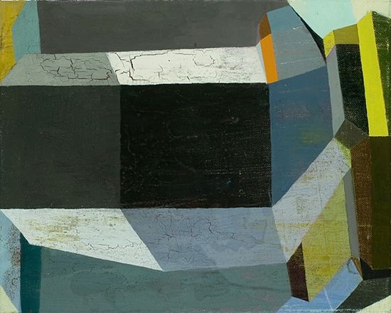 Deborah Zlotsky - The thunderer  2011  oil on canvas  11 inches x 14 inches
