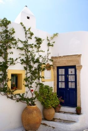 I like this image because it shows what is common or everyday in another country. This is a home in Greece and the image shows the typical materials and style that Greek architecture has. Everyday architecture is different for each different culture.