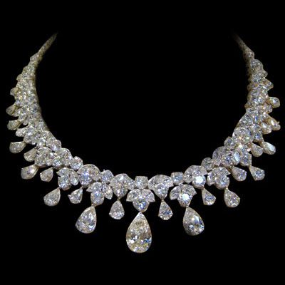 Estate Diamond Necklace, 150 Carats! I am singing in my Best Marilyn voice.  Diamonds...