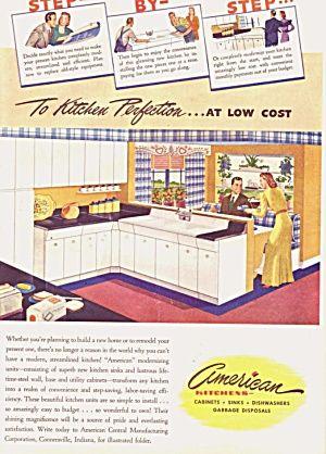 charming post-war kitchen decor ad!