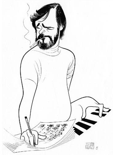 Stephen Sondhiem by Al Hirschfeld
