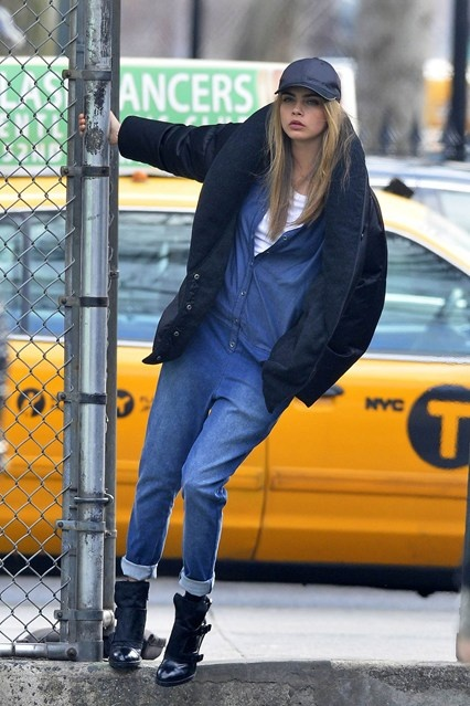 Cara Delevingne shoots a new fashion campaign in New York