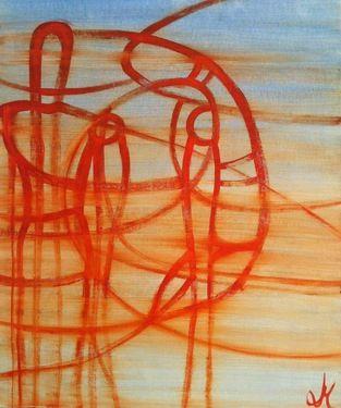 "Saatchi Online Artist Laura Molonaro; Painting, ""Protection"" #art"