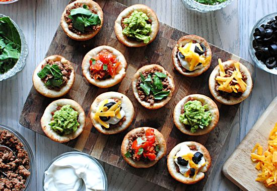 7 Layer Savory Cupcakes - Super Bowl Food Anyone???  #Superbowl