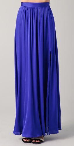 Royal blue maxi skirt.