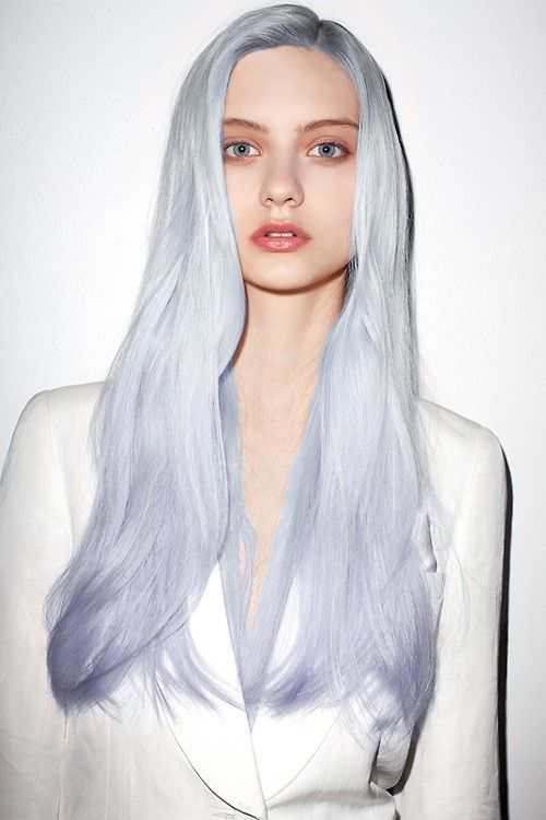 ice blue hair