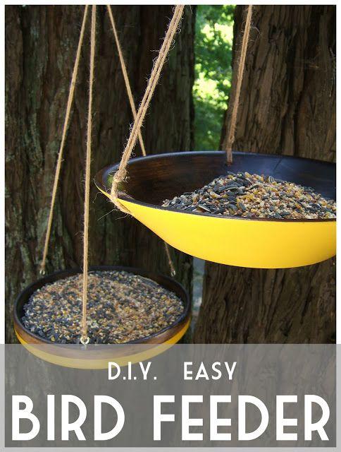 Nine Red: DIY Easy Bird Feeders