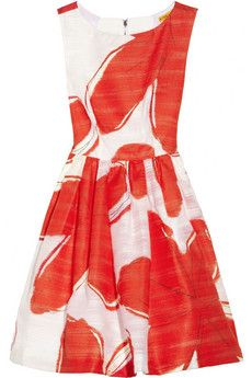 Alice + Olivia Essie printed jacquard dress