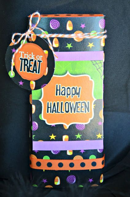 DIY Tutorial Halloween Candy Bar Wrappers!  #Halloween #candy #chocolate #printables