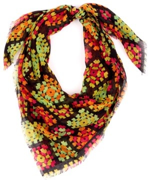 Need this granny square inspired scarf!