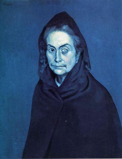 Pablo Picasso, La Celestine, 1904 Creepy Blue!