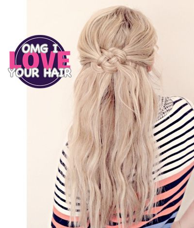 I tried this and it is not possible lol but it looks so pretty!  #Hair porn. Celtic #Knot Hair Tutorial frsky.me/145WRC9