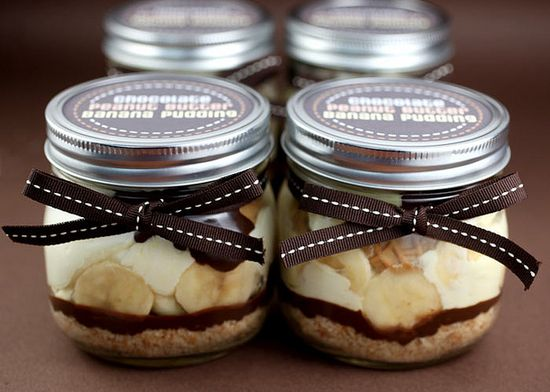 Chocolate Peanut Butter Banana Pudding - how fun & tasty!