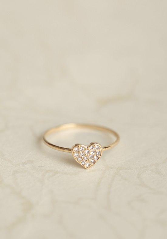lovely heart ring