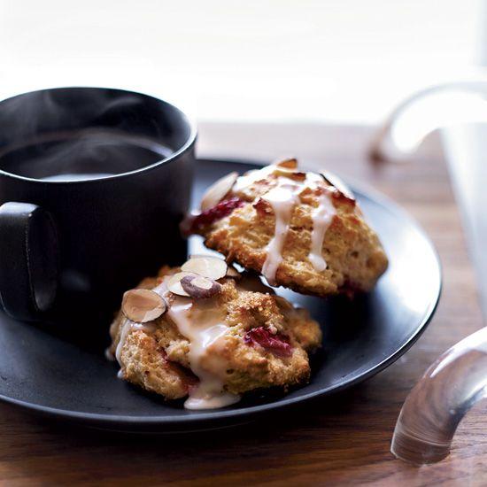 Strawberry-Almond Scones // More Breakfast Pastries: www.foodandwine.c... #foodandwine