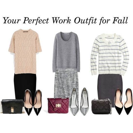 3 Perfect Fall Work Outfits